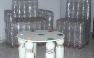 Мастер класс по мебели из пластиковых бутылок своими руками: как сделать с фото и видео