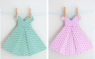 Оригами-платья из бумаги со схемами: делаем поэтапно