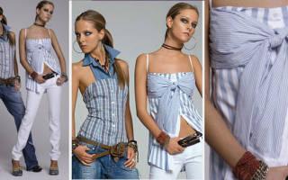Что можно сшить из мужской рубашки своими руками для женщины: как сшить блузку