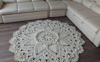 Вязание ковров из шнура крючком: схемы своими руками и мастер класс с фото