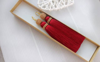Сережки кисточки своими руками: делаем из ниток и из бисера