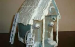 Поделка «зимний домик»: делаем своими руками