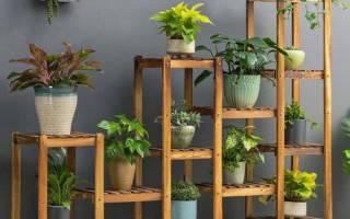 Подставка для цветов своими руками: варианты из пластиковых труб, из металла и из дерева