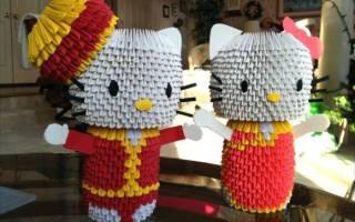 Кошка (модульное оригами ): кошка лизон своими руками и видео-подборка