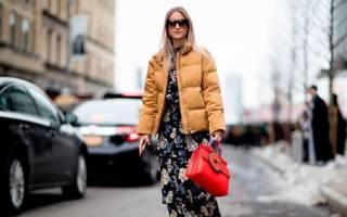 Пуховик с платьем: как носить, правильно сочетать и модно выглядеть