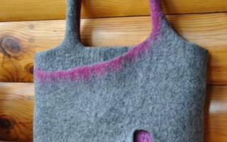 Валяние из шерсти сумки