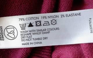 Состав ткани: что за ткань pes, linen, wool, таблица сокращений и обозначений