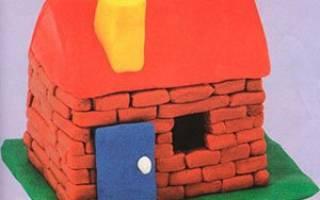 Как сделать дом из пластилина: делаем в домашних условиях своими руками