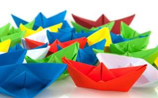 Кораблик оригами из бумаги: как сделать поделку по схеме с фото