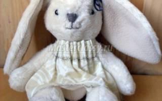 Как сшить зайца с длинными ушами своими руками — выкройка, фото и видео-уроки