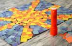 Мозаика из бумаги своими руками: как сделать из цветной бумаги на картоне