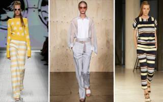 С чем носить белые брюки: широкие, клеш, в полоску