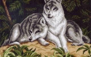 Вышивки с волками крестом: красивые и в то же время простые схемы
