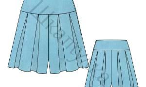 Юбка шорты для девочки: простая выкройка, как сшить своими руками