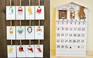 Календари своими руками: мастер класс и идеи в статье