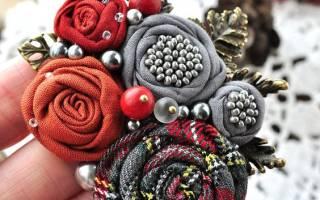 Цветок из ткани своими руками: мастер класс с фото
