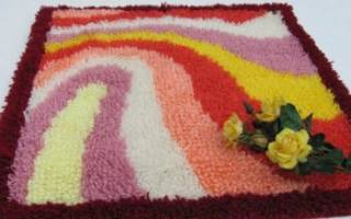 Коврик из ниток своими руками: как сделать пушистый коврик