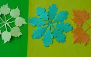 Аппликации для детей из бумаги: варианты из осенних листьев и картинки для аппликации