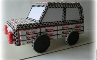 Машины из конфет своими руками: мастер класс