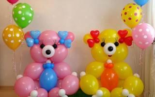 Животные из шариков: инструкция с видео