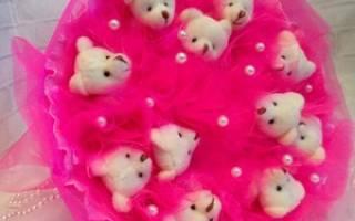 Букет из мишек тедди: мастер-класс с описанием, фото и видео