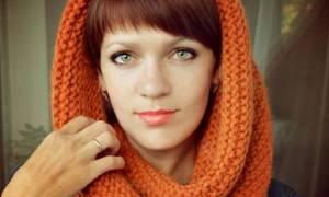 Крупная вязка спицами со схемами: шарф снуд и шарф хомут