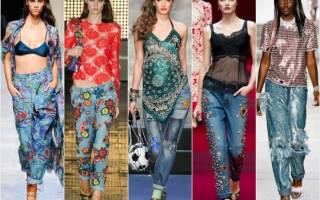 Вышивка на джинсах своими руками со схемами: схемы с фото