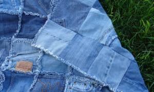 Покрывало из джинс: мастер класс с фото