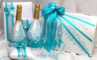 Как украсить бутылку своими руками: мастер класс с лентами
