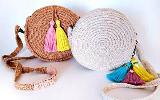 Сумка из джута крючком: схема и описание вязания