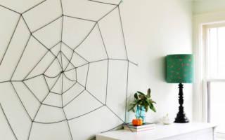 Как сделать паутину из ниток: 3 способа изготовления своими руками
