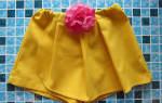 Выкройка юбки-шорты: для девочки, с запахом, с завышенной талией