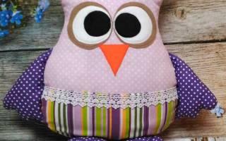 Сова своими руками из ткани: мастер класс как сшить игрушку правильно