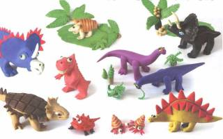 Как сделать динозавра из пластилина: рекса и тиранозавра поэтапно