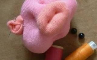 Свинка из чулка своими руками: мастер