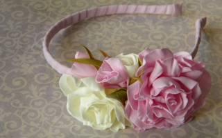 Пионовидные розы из фоамирана: шаблоны и мастер класс