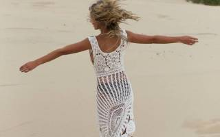 Пляжное платье крючком: схема и описание для начинающих, мастер-класс с пошаговыми фото и видео