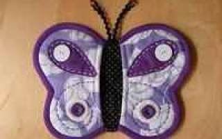Выкройка прихватки бабочка: мастер класс в натуральную величину