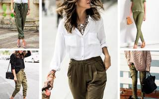 С чем носить брюки хаки женские
