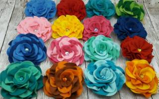 Цветы из фетра своими руками: шаблоны и мастер класс с фото