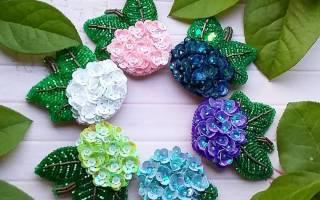 Цветы из пайеток и бисера своими руками