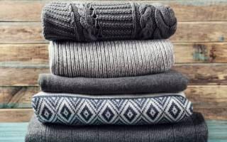Как правильно сложить свитер