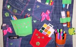 Органайзер своими руками из ткани: мастер класс поделки для инструментов и для косметики