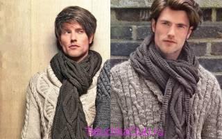 Из какой пряжи лучше вязать шарф мужчине