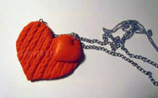 Как сделать кулон-сердце из полимерной глины на день святого валентина (14 февраля)