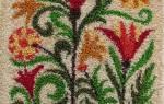 Ковровая техника вышивки: мастер класс с помощью специальной иглы