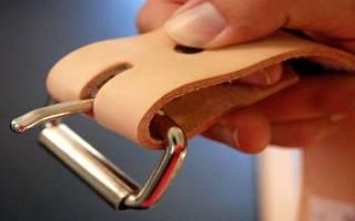 Кожаный ремень своими руками: мастер класс для новичков