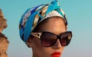 Как завязать чалму из шарфа на голове, варианты завязывания