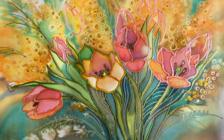 Батик: роспись по ткани для начинающих и мастер класс с фото