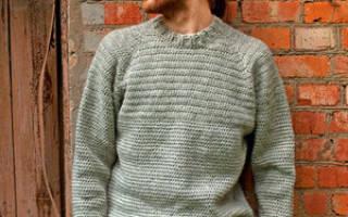 Мужской свитер крючком: модели мужского свитера пошагово